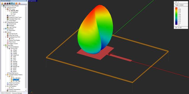 EM Picasso Tutorial Lesson 1: Analyzing A Microstrip-Fed
