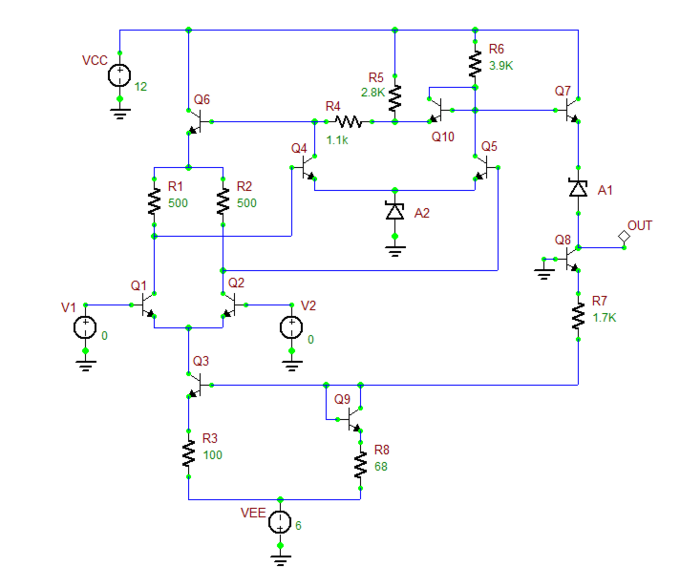 Which Pass Transistor For Mc34063 besides 5 Circuit Electrical Training Aid in addition KompDiff moreover Ocl 150 Watt With 2n3055 And Mj2955 moreover Bc547 Bc548 With 5v At Base Cant Control 12v At Collector Emitter. on npn transistor circuit
